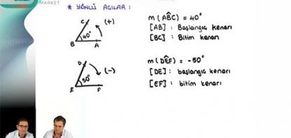 Matematik | Trigonometri - 1 | Yönlü Açılar
