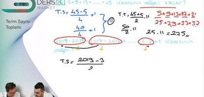 Matematik | Terim Sayısı / Toplamı