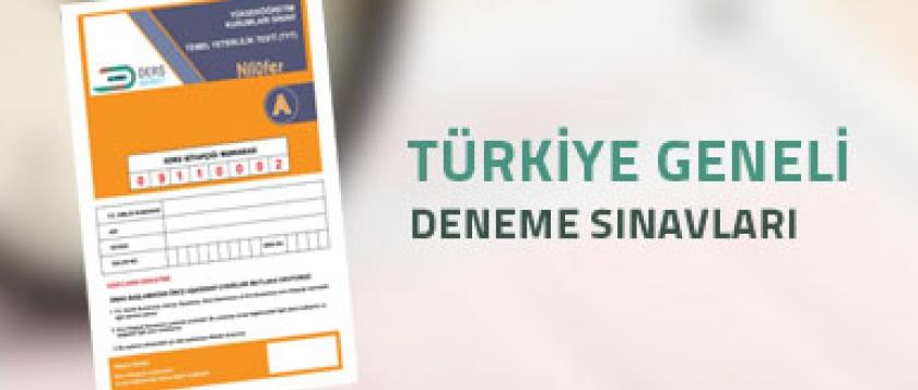 Türkiye Geneli Sınavlar